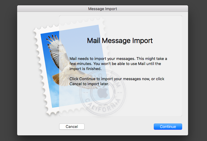Mail.app Import Message